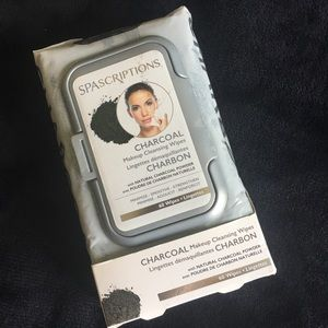 3/$15 NWT Spascriptions Charcoal Makeup Wipes